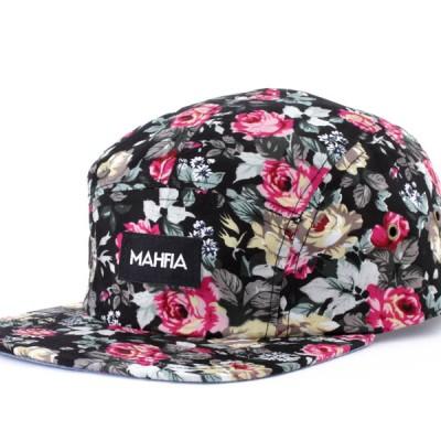 MAHFIA FIve Panel Hat   Floral
